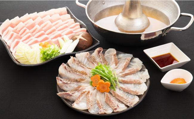 糸島天然真鯛・糸島産豚しゃぶしゃぶセット(3~4人前)