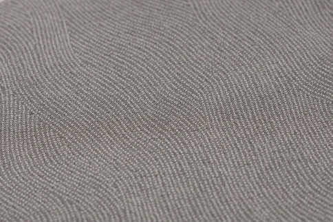 (鼠色)【江戸小紋石塚染工】伝統工芸士による江戸小紋反物 フランス縞