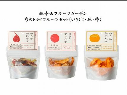 【観音山特製ドライフルーツ】のうかかわかす(桃・いちじく・柿)各30g