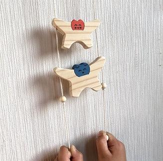 【ご自宅用】木のおもちゃ「コロポコ積木パズル(スペシャル)&歯がため&スプーン&昇りワンニャン&三連カスタくん&脳活ディスクパズル(6枚)&スライドパズル&たまごキャッチくん」8点セット