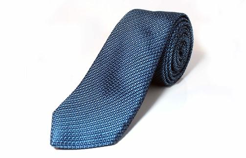 KUSKA Fresco Tie【サックスブルー】-世界でも稀な手織りネクタイ-