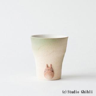 となりのトトロ信楽焼フリーカップ(緑)totoro-08