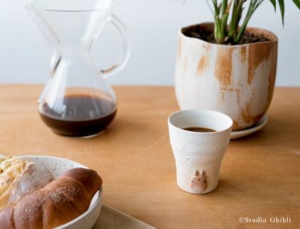 となりのトトロ信楽焼フリーカップ(白)totoro-09