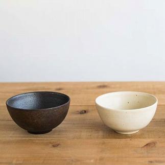 ごはん茶碗 とび茶生成りセットs18-wa12