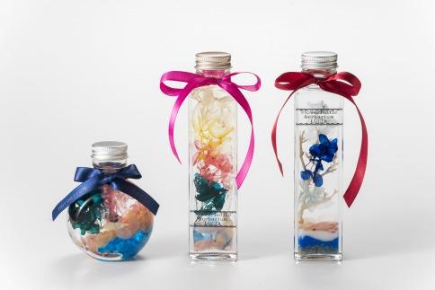 海からの贈り物幸運の桜貝ハーバリウム(丸瓶)