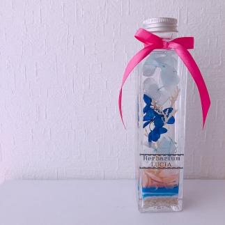 海からの贈り物幸運の桜貝ハーバリウム(角瓶)