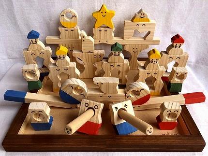 木のおもちゃ「コロポコ積木パズル(スペシャル)&昇りワンニャン&脳活ディスクパズル(6枚)&スライドパズル&たまごキャッチくん」5点セット