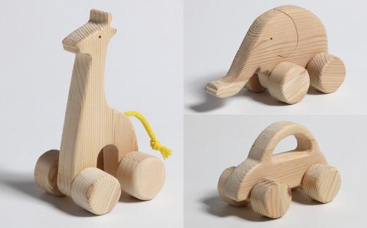 木製アニマルカーセット