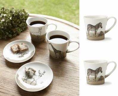 【miyama.】(シマウマ×シマウマ)食卓が動物園に!可愛い美濃焼のマグカップ