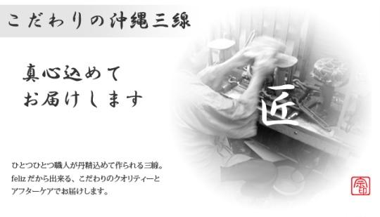 こだわりの沖縄三線【強化張り】