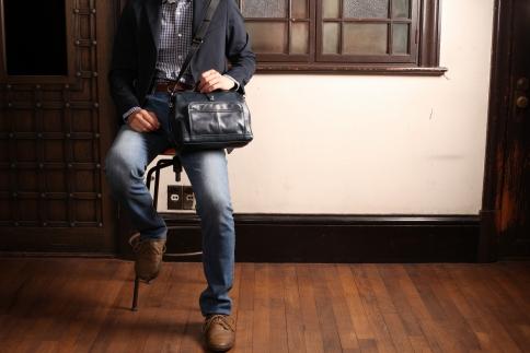ダレスショルダー 豊岡鞄 FW01-103-50(ネイビー)