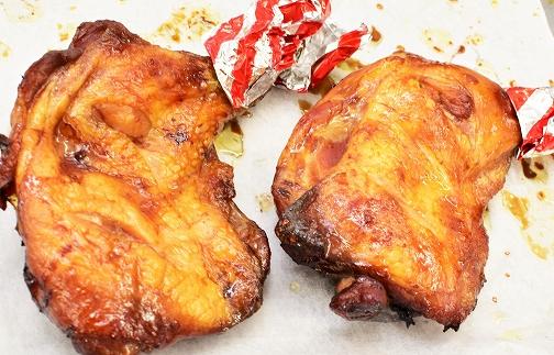 鹿児島地鶏半身・炭火焼若鶏ごて焼