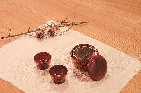 欅 旅茶器 てまり 赤摺