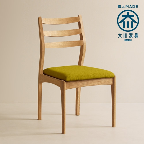 Tred Armless Chair WhiteOak Fabric-A