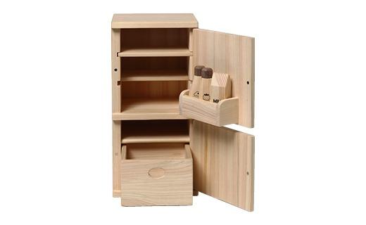 檜のおもちゃ IKONIHアイコニー ままごと冷蔵庫