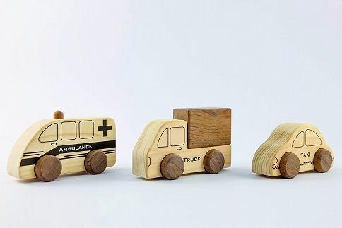 檜のおもちゃ IKONIHアイコニー はたらく車シリーズ