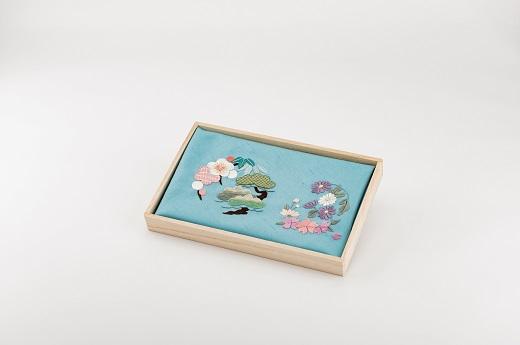 【加賀繍】(水色)風呂敷