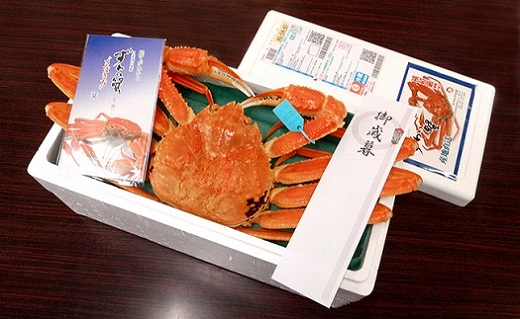 【石川県産】加能かに(ずわい蟹)生重量700g×1匹