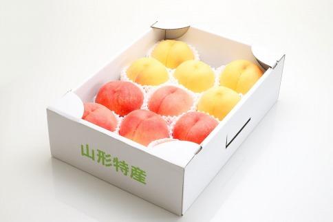 AP56数量限定!どちらも食べたい「白桃と黄桃の食べ比べセット 3kg」