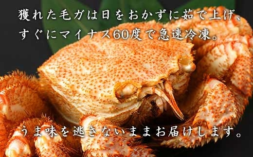 毛ガニ中サイズ3尾セット<利尻漁業協同組合>