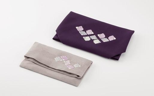 【加賀繍】慶弔両用袱紗+数珠入れセット「菊菱」