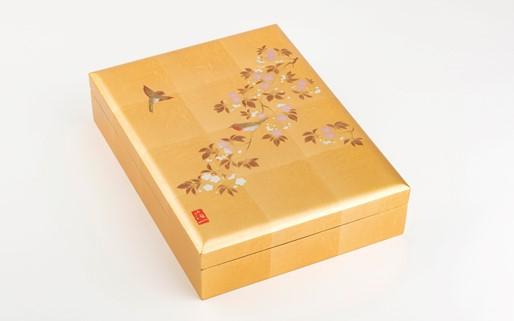 【金沢箔】花見鳥 手許箱