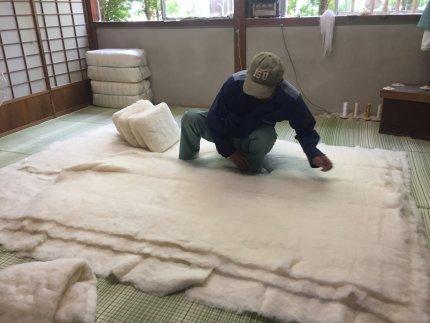 1級技能士が厳選した綿を使用!匠の敷布団