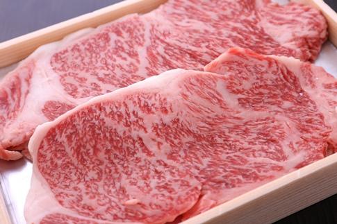 近江牛霜降りロース肉ステーキ 150g×3枚