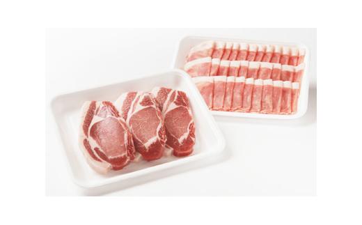 北海道産豚肉しゃぶしゃぶ&とんかつセット