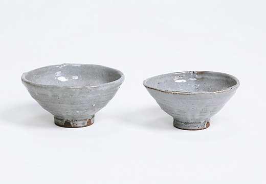 信楽焼長石釉夫婦飯碗ペアセット