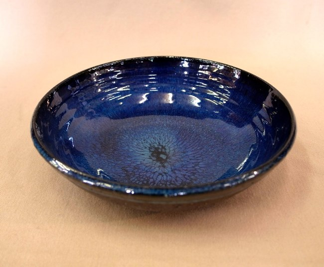 信楽焼深緑海鼠釉中鉢
