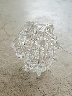 【ガラス】ガラスの花どめ・大