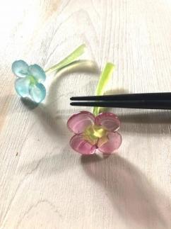 【ガラス】摘花はしおき(2個セット)