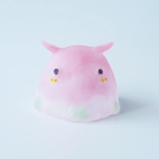 (ピンク)【ガラス】まるタコ