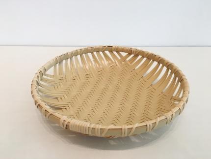 【竹工芸】網代編盛篭(8寸)