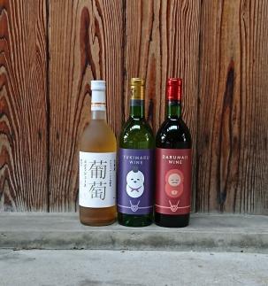 達磨寺ワイン赤白(辛口)と国産ぶどうジュースのセット