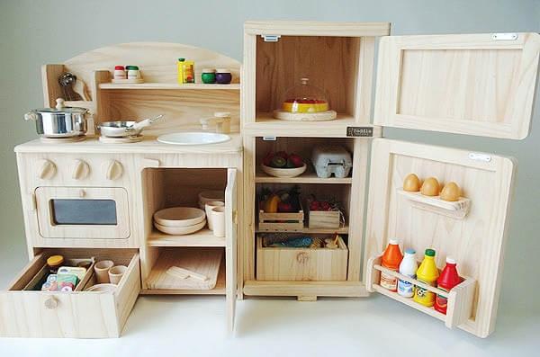 木製おままごと冷蔵庫