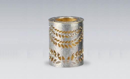 【彫金】(銀)蓋置き[laurier]