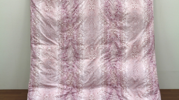【ピンク】<京都金桝>羽毛ふとん2層キルト<ミスト>シングルロング(ハンガリーホワイトダウン93%)【布団】