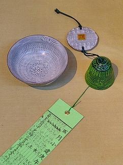 大房信之作 暦手風鈴と盃の寛ぎセット満月