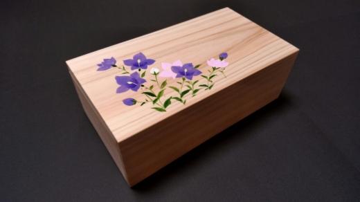 桧で作った桔梗の小箱~my宝箱~
