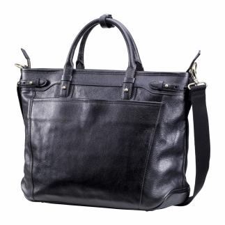 ビジネス豊岡鞄皮革ビジネストート(ブラック)