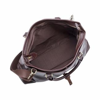 豊岡鞄 皮革横型手提げ(チョコ)