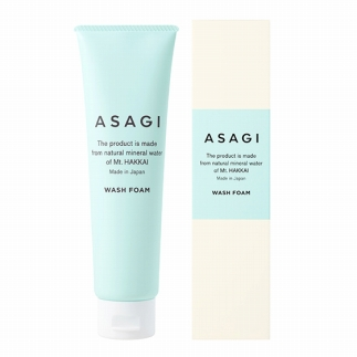 南魚沼の天然超軟水から誕生「ASAGI」(洗顔料&化粧落とし&化粧水&クリーム4点セット)
