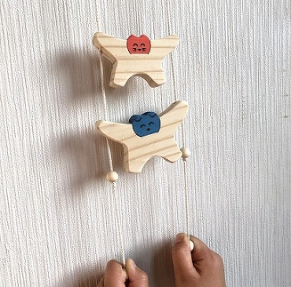 【ギフト用】木のおもちゃ「コロポコ積木パズル(スペシャル)&昇りワンニャン&コッコちゃんS&三連カスタくん&脳活ディスクパズル(6枚)&スライドパズル&たまごキャッチくん」7点セット