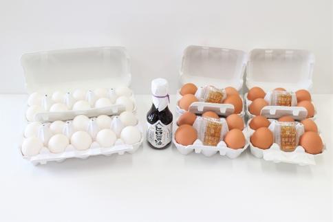 北のたまごや 半熟とろ~り温泉たまご40個と卵かけご飯専用醤油セット