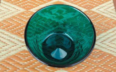 BA63 倉敷ガラス 小鉢(青)