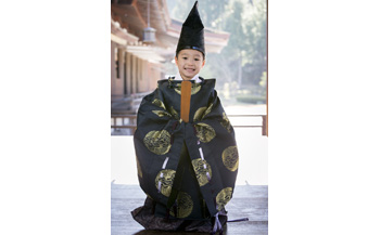 平安時代風男の子衣装体験(身長95cm~130cm)1名様分