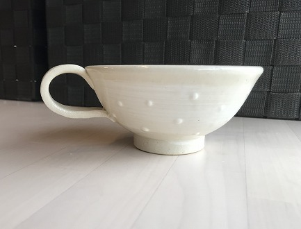 【陶器】カップ&ソーサー 白 いっちん