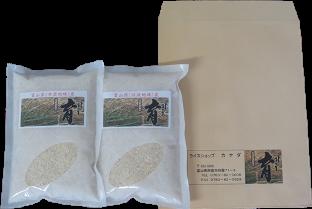 【令和元年産】使いきりパック富山県産こしひかり 育(はぐくみ)白米450g(3合)2個セット